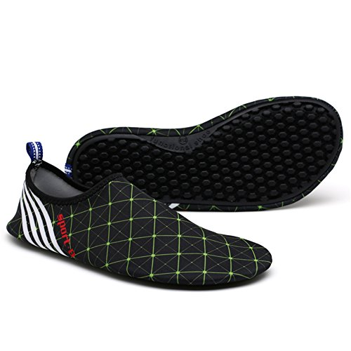 Womens Shoes Mens SAGUARO Black amp;green Aqua Barefoot Socks Water Drying Quick Skin H5wwxqa