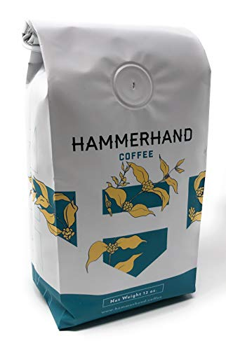 - Hammerhand Coffee - Full Bloom Roasted Whole Bean in Liberty, MO Natural Process Gourmet Blend of America and African coffees 12oz Bag Medium/Dark chocolatey fruity