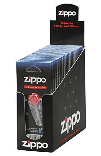 "Zippo ""Flint Cards"", Full Box, 24 Pks, 144 Total Flints, Low Ship, 2406n"