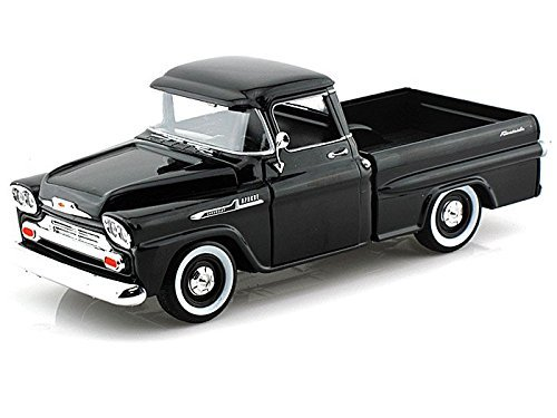 Showcasts Collectibles 1958 Chevy Apache Fleetside Pickup Truck 1/24 Scale Diecast Model Car Black ()