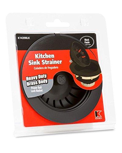 Keeney K1439BLK Deep Thread Cast Brass Sink Power Ball Basket, Complete Kitchen Strainer 4.5'', Black Finish by Keeney (Image #1)