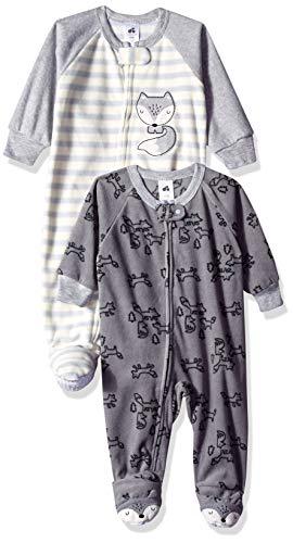 Just Born Baby Boys' 2-Pack Blanket Sleeper, Fox, 12 - Sleeper Boys Fleece