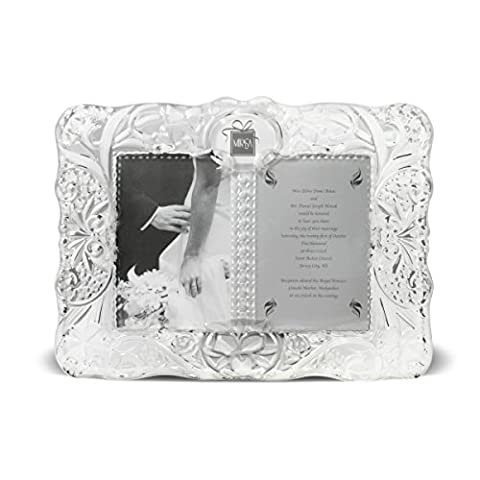 Mikasa Cherished Moments Crystal Frame - Floral Etched Crystal
