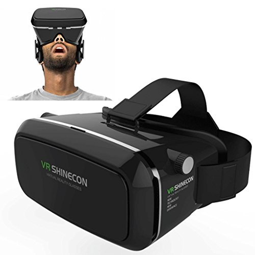 GIZEE Creative 360 Viewing Virtual Reality Headset Google Cardboard VR Box 3D Video Movies Games Glasses for 3.5-6.0 inches Android & Apple Smartphones iPhone Samsung LG Sony HTC ZTE etc