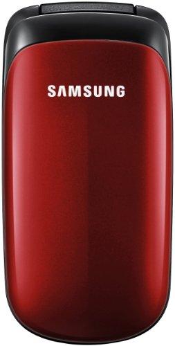 Samsung E1150i Klapphandy 3,6 cm (1,43 Zoll) Display ruby-red