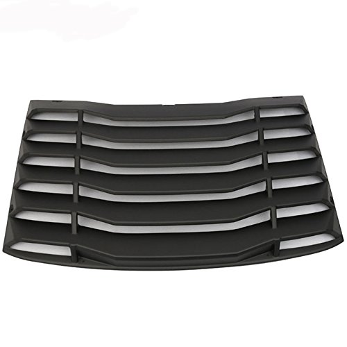 Racingbees 2016-2017 Chevy Camaro K Style Rear Window Louver ABS Unpainted Black Generic
