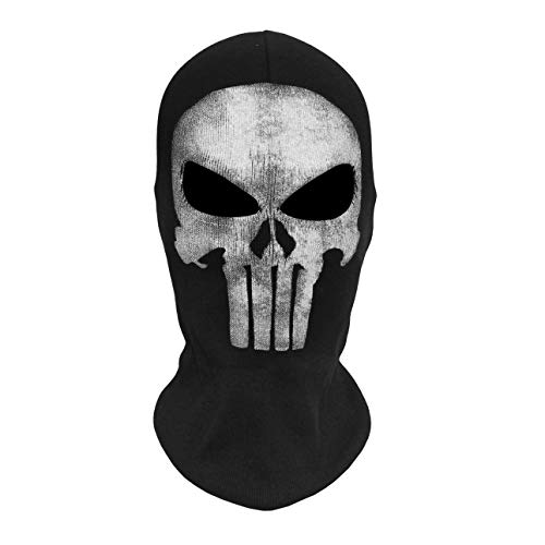 Liobaba Skull Ghost Masks Halloween Punisher Deathstroke Reaper Full Face Mask ()