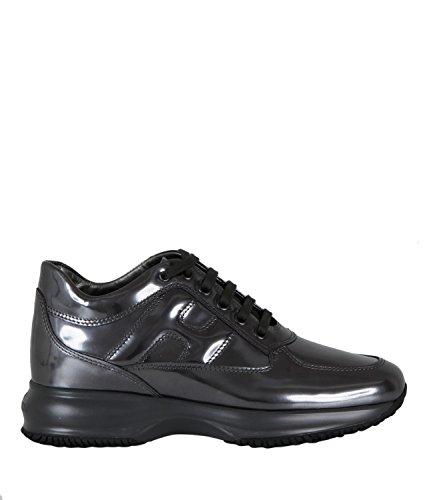 Hogan HXW00N000101ONB401 Leather Women's Sneakers Grey rC6rPO