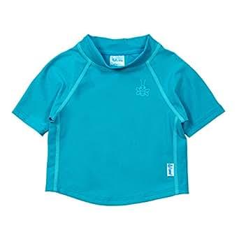 i play. Short Sleeve Rashguard Shirt for 3 to 6 Months Babies, Aqua, 6 Months