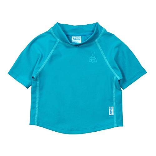 (i play. Kids & Baby Short Sleeve Rashguard Shirt, Dark Aqua,)