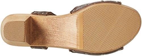 Sanita Sinja Square Sandal - Sandalias con cuña Mujer Braun (Antique Brown)