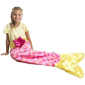 Allstar Innovations - Snuggie Tails - Mermaid Blanket For Kids (Pink), As Seen on TV