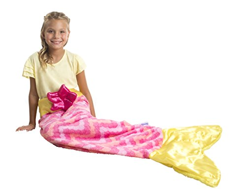 [Snuggie Tails Mermaid Blanket For Kids (Pink)] (Giggles The Sexy Clown Adult Costumes)