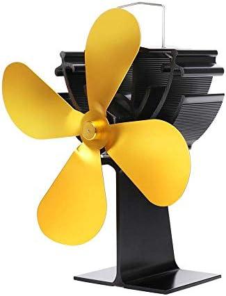 ミニサイズ4ブレードストーブファン、熱駆動の木材/ログバーナーファン、木材/ログバーナー/暖炉用-環境に優しい、サイレント