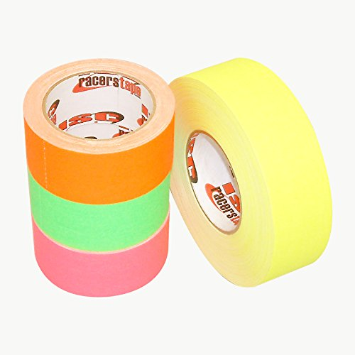 ISC Racers Tape NEON DULL-FINISH/YEL210 ISC Neon Dull-Finish Racer's Tape: 2'' x 30 ft, Fluorescent Yellow