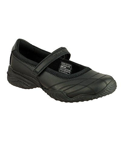 Skechers - Black - Leather Childrens Shoes - Size 31