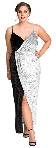Bestfort Kleid Damen Lang Elegante Zweifarbig Brautkleider Festliche Kleider  Schöne Abendkleider Ärmellos Schlinge Rückenfreies Samt Lose 7b43837952