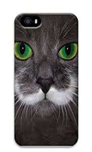 Big Face Hamilton The Hipster Cat PC Case Cover for iPhone 5 and iPhone 5s 3D
