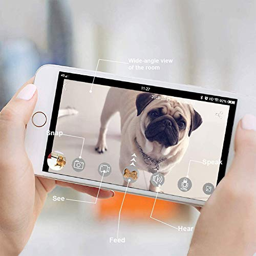 YUNDING-Dog-Camera-Treat-Dispenser-WiFi-Full-Hd-Pet-Camera-with-Infrared-Led-Night-Vision-Device-Dog-Treat-Dispenser-Two-Way-Audio-for-Dogs-and-Cats
