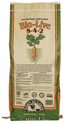 Down To Earth Organic Bio-Live Fertilizer Mix 5-4-2, 25 lb