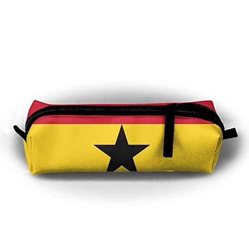 Presidential Office Suite - FJSLIE Presidential Standard Ghana Flag Oxford Storage Bags Portable Student Pencil Calico Office Stationery Bag Zipper Wallets Makeup Multi-Function Bag