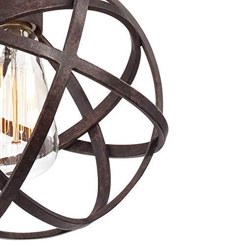 Industrial Atom 8'' Wide LED Edison Bulb Mini-Pendant Light - Franklin Iron Works by Franklin Iron Works (Image #3)