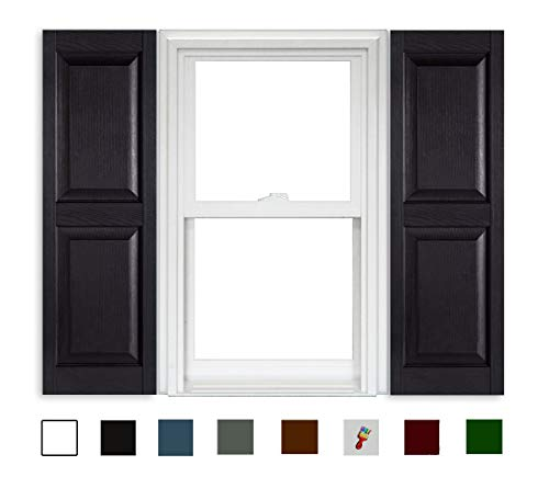 Polaris Shutters Raised Panel - 002 Black - 15