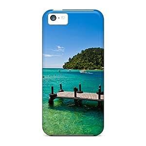 Jeffrehing Iphone 5c Hybrid Tpu Case Cover Silicon Bumper Beautiful Lagoon