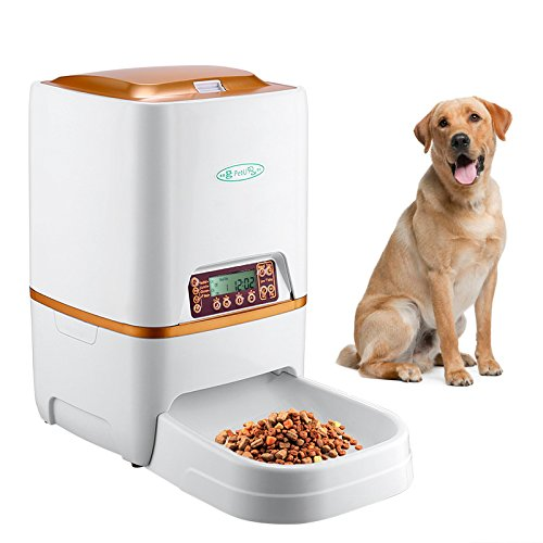 Generic Automatic Pet Feeder - For Dry Food, 6L Capacity, Voice Record, Adjust Serving Size, Durable Abs Design by Generic