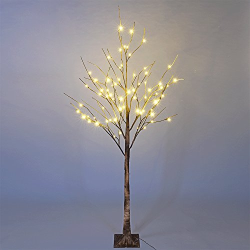 Lightshare Wild Birch Tree 6FT 72 LED Natural (Tree Birch Brown)