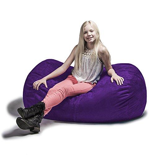 Jaxx Sofa Saxx Bean Bag Lounger, 4', Grape - Lounger Foam Bag Bean
