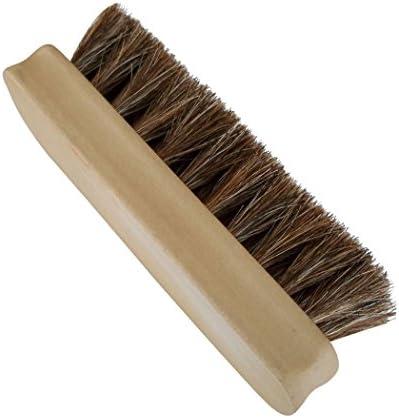Handle Wood Bristle Horse Shoe Hair Brush Boot Polish Shine Cleaning Dauber VvV