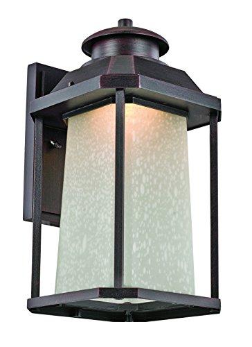 Trans Globe Lighting LED-40932 RT Southfield Outdoor Rust Mission/Craftsman Wall Lantern, 16.75