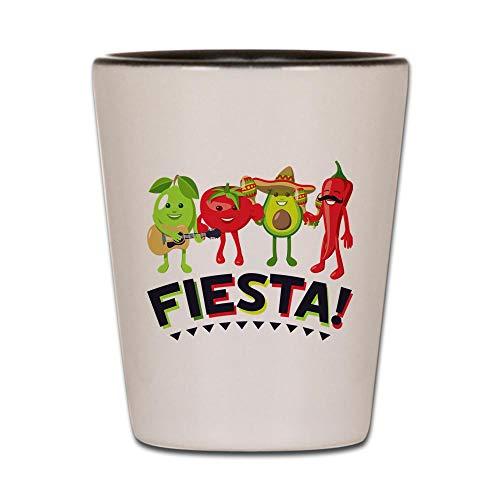 Avocado Glass - CafePress Emoji Avocado Fiesta Shot Glass, Unique and Funny Shot Glass