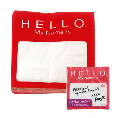 DCI Napkin Notes Dinner Napkins product image