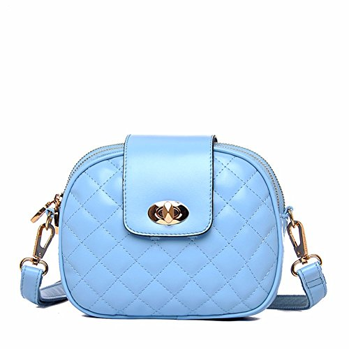 Body Bags PU Many Wristlet MSZYZ Soft Casual Shoulder Shoulder with Small Capacity Cross Shoulder Large Pockets Clutch Wathet Women's Vintage Leather AvwqAZz
