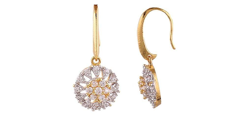 Girls White /& Gold Terramart/_ Earring Set/_Fashion Jewellery for Women