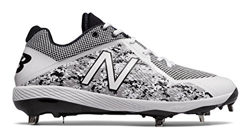 New Balance Men's L4040v4 Metal Baseball Shoe, Silver/Camo, 8 D US by New Balance (Image #2)