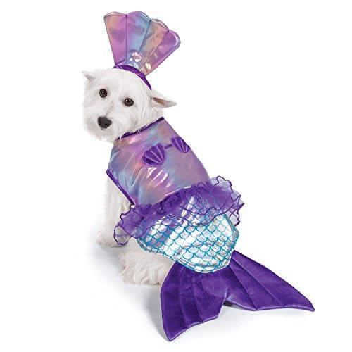 Zack & Zoey Iridescent Mermaid Costume for Dogs, (Mermaid Dog Halloween Costume)