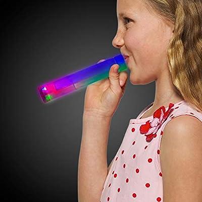 Light Up Choo Choo Train Whistle for Kids Noise Maker Party Favor: Toys & Games