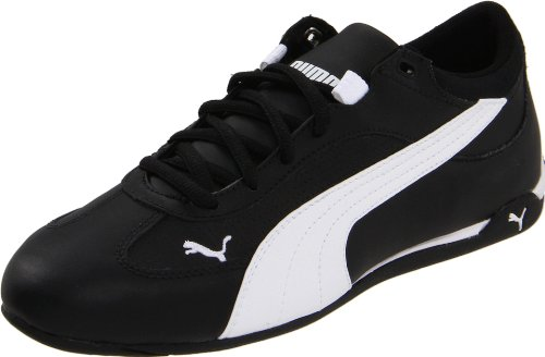 Amazon.com | Puma Men's Fast Cat Leather Fashion Sneaker, Black/White, 6.5  D US | Fashion Sneakers