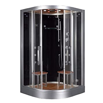 Ariel Platinum DZ962F8 BLK Steam Shower U0026 Sauna   47.2u0026quot; X 47.2u0026quot;  ...