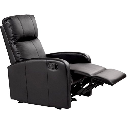 Giantex Massage Recliner Chair Pu Leather Single Sofa Recliner Heavy Padded Seat 5