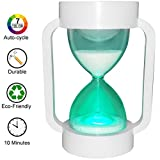 SuLiao Hourglass Sand Timer Lamp: 7 Color Changing & Warm NightLight with 10 Minute Sand Timer for Kids Stay Focused, Relaxation