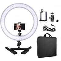 Selens Camera Photo Video 14 Outer 40W 180PCS LED Ring Light 5500K Dimmable Youtube Lighting kit with Mount for DSLR Camera Cellphone and Desktop Stand for Make Up, Youtube Video, Live Webcast