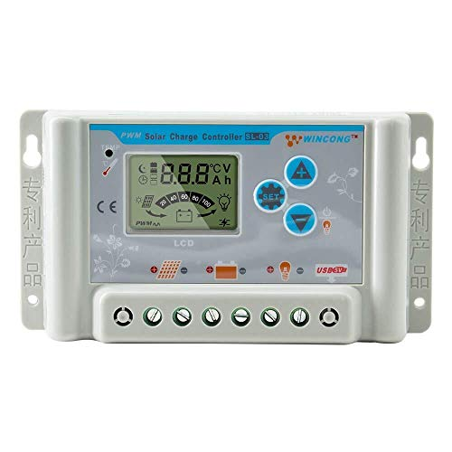 36 Volt Controllers - PowMr 30A Solar Charge Controller 36V 48V 60V Auto,30A Solar Regulator Compatible with Lithium,Sealed, Gel, and Flooded Batteries, with USB Port, Overload Protection Temperature Compensation