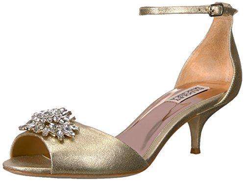 Badgley Mischka Women's Sainte Heeled Sandal, Platino, 7.5 M US by Badgley Mischka