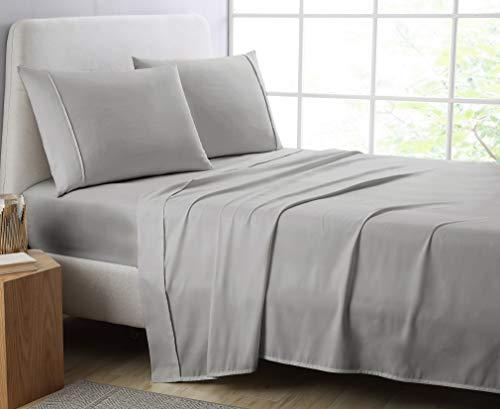 Manor Ridge Luxury 100GSM Brushed Microfiber Hypoallergenic Flat Sheet, King/California King, - King Size Flat Sheet Dimensions