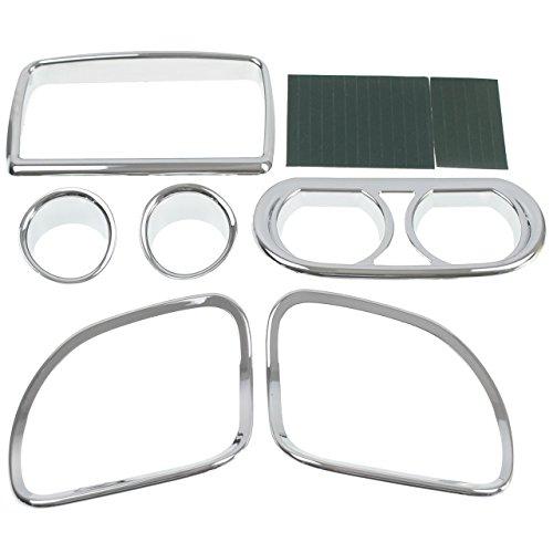 Chrome Inner Fairing Speedometer Dash Gauge Radio Speaker Trim Kit for Harley Road Glide 2015-2017