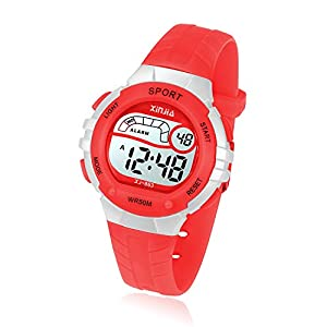 Kids Digital Watch, Girls Boys 50M(5ATM) Waterproof Multi-Functional WristWatches for Children